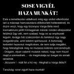 SOSE VIGYÉL HAZA MUNKÁT!